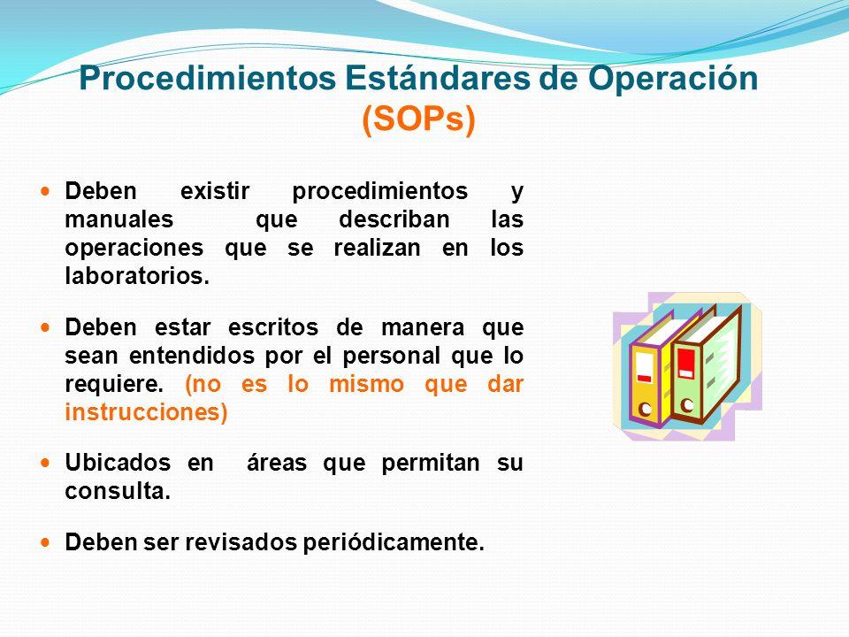 Procedimientos Estándares de Operación (SOPs)
