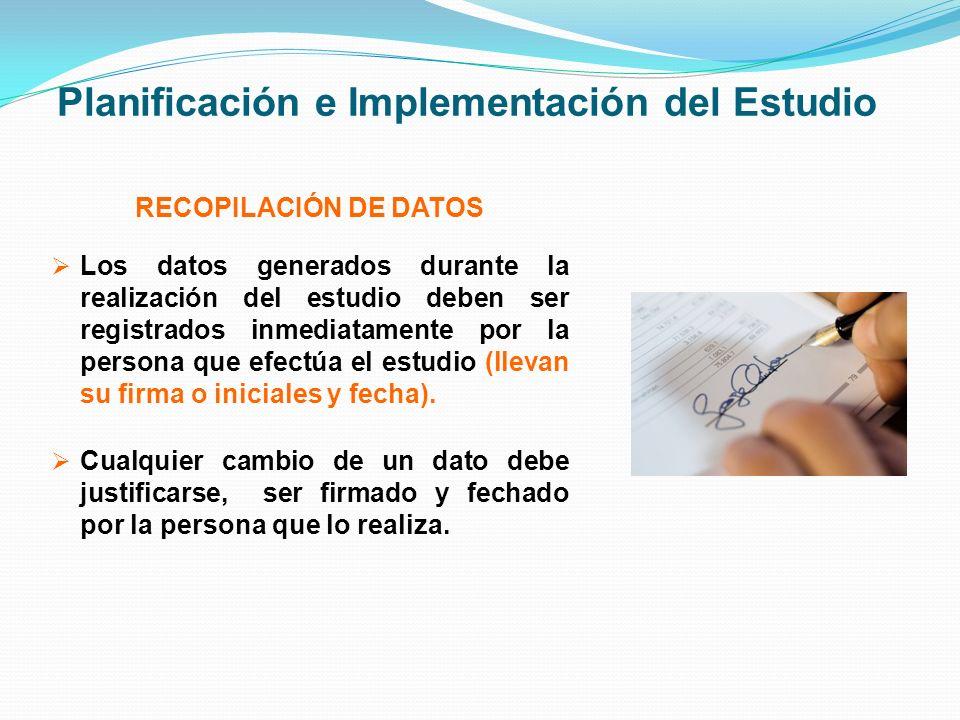 Planificación e Implementación del Estudio