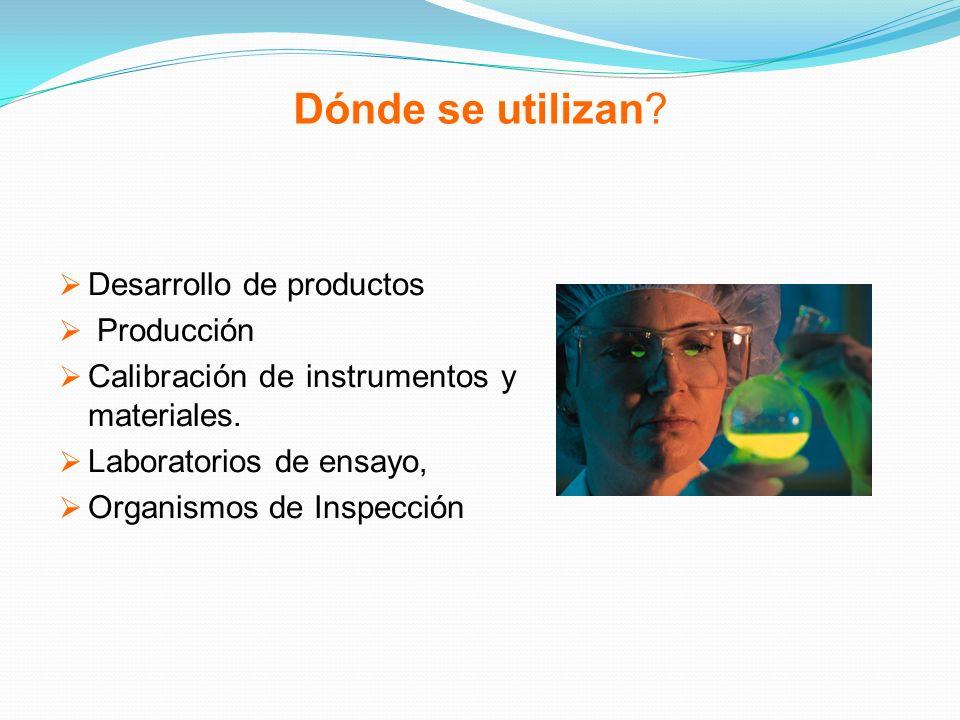 Dónde se utilizan Desarrollo de productos Producción