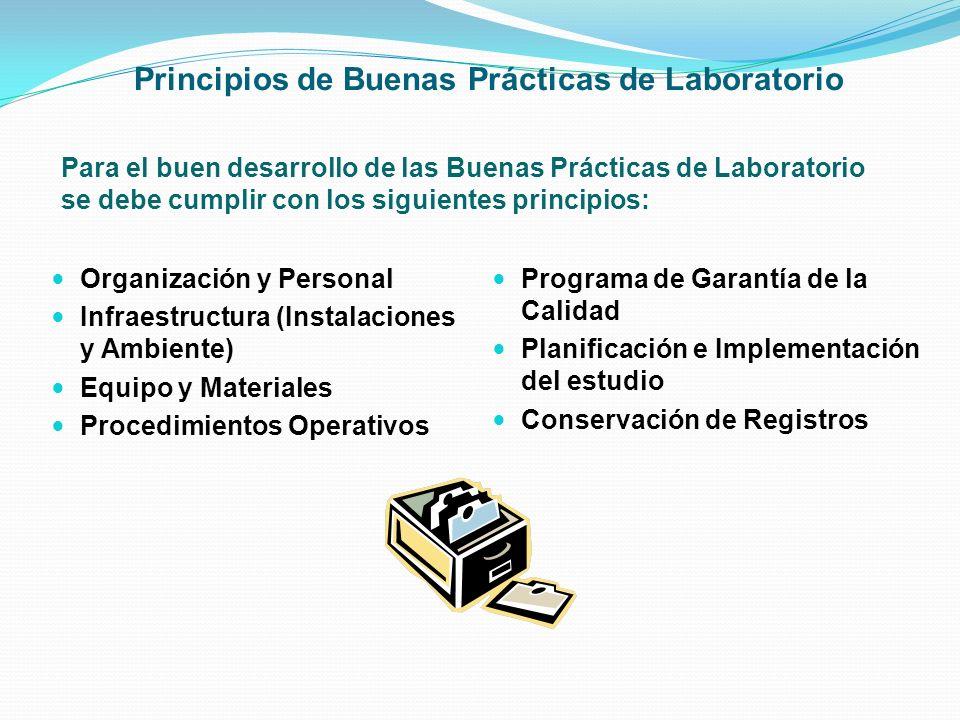 Principios de Buenas Prácticas de Laboratorio