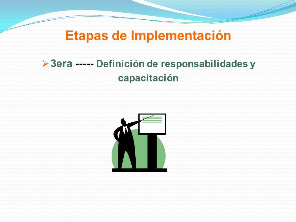 Etapas de Implementación