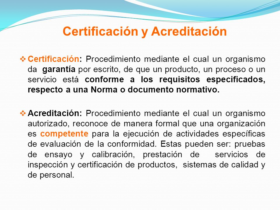 Certificación y Acreditación