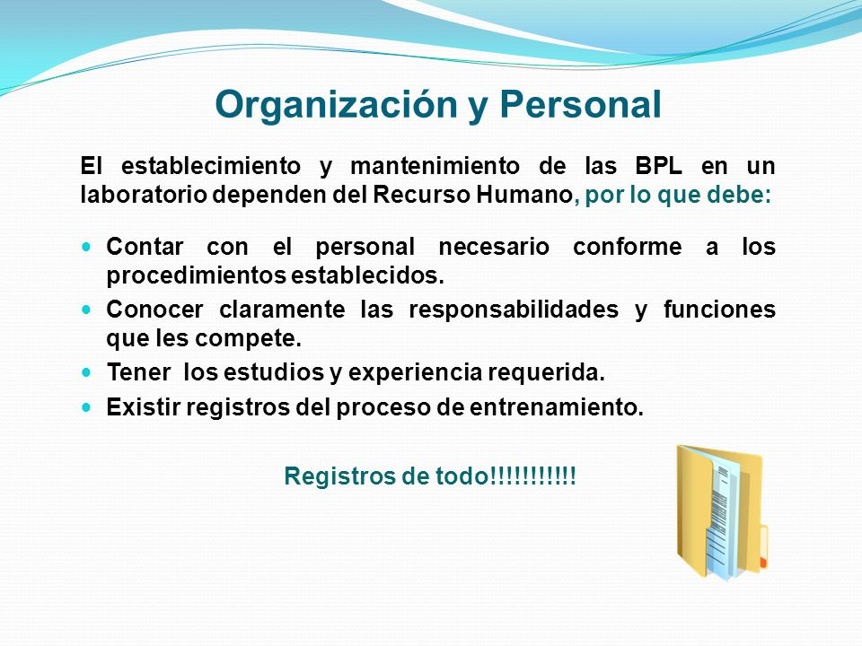 Organización y Personal