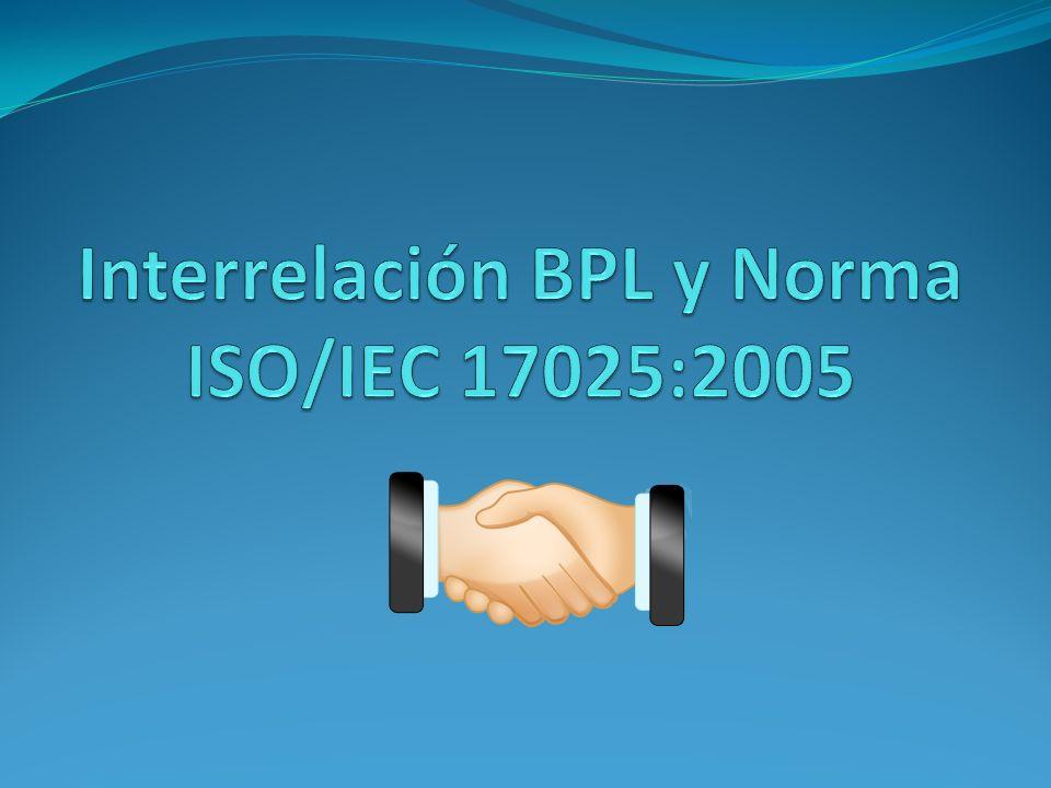 Interrelación BPL y Norma ISO/IEC 17025:2005