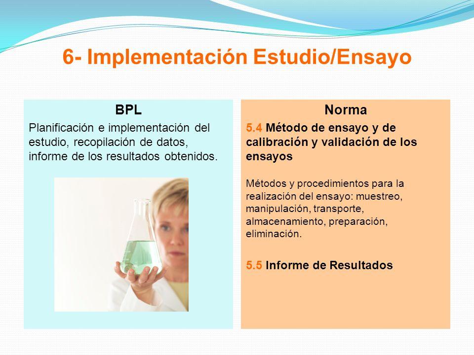6- Implementación Estudio/Ensayo