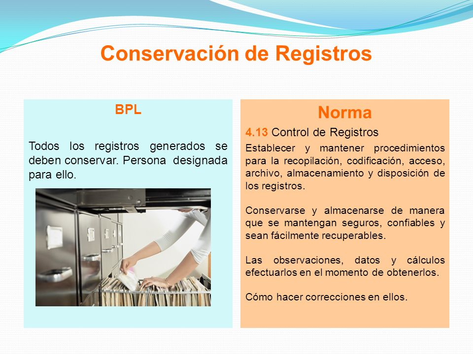 Conservación de Registros