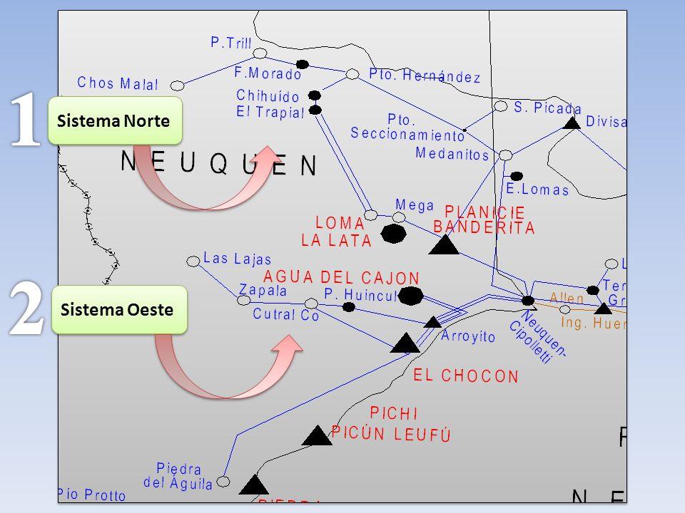 1 Sistema Norte 2 Sistema Oeste