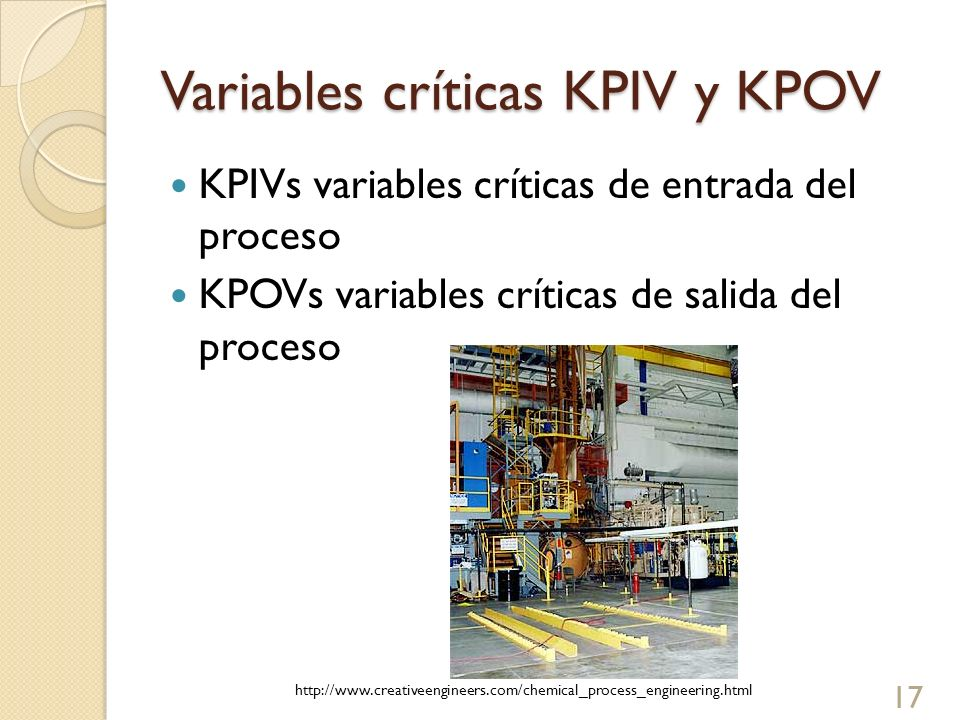 Variables críticas KPIV y KPOV