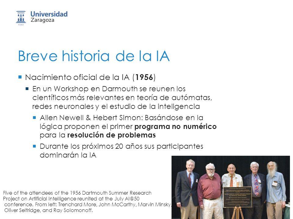 Breve historia de la IA Nacimiento oficial de la IA (1956)