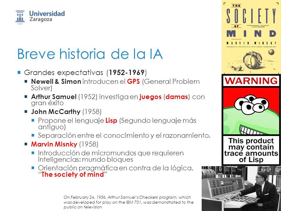 Breve historia de la IA Grandes expectativas (1952-1969)