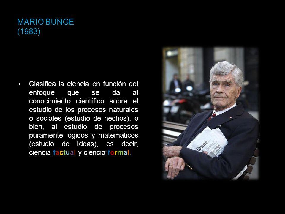 MARIO BUNGE (1983)
