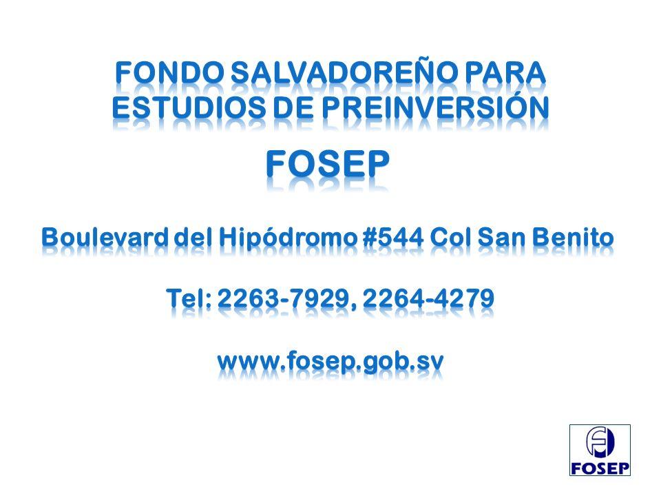 FONDO SALVADOREÑO PARA ESTUDIOS DE PREINVERSIÓN