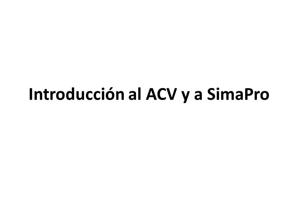 Introducción al ACV y a SimaPro