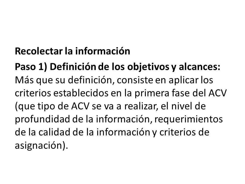 Recolectar la información
