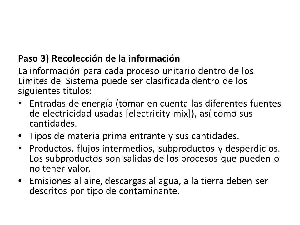 Paso 3) Recolección de la información