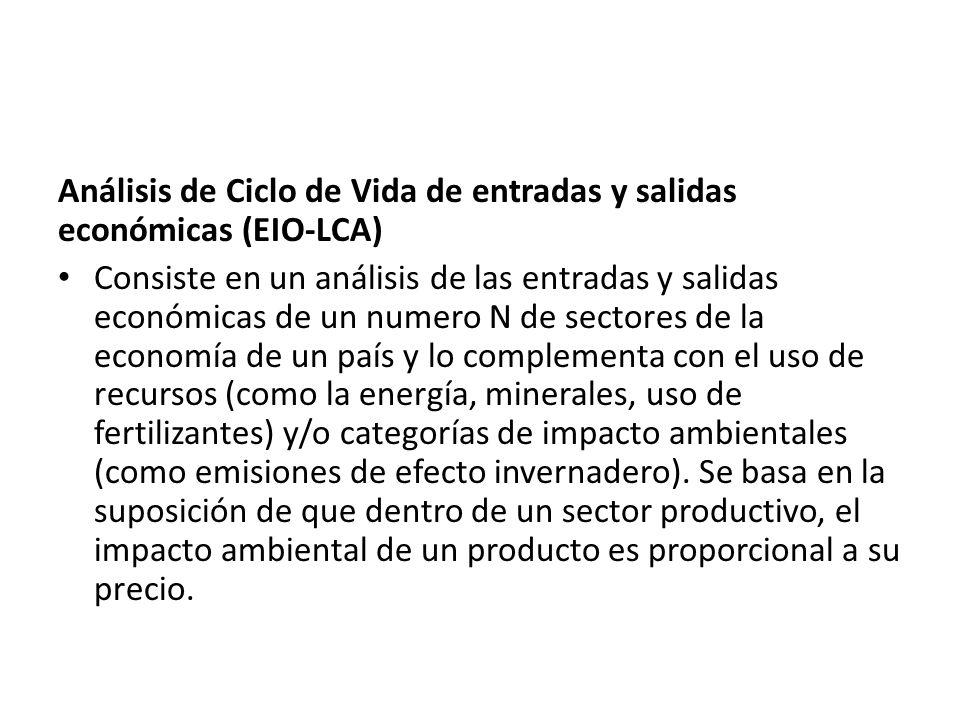 Análisis de Ciclo de Vida de entradas y salidas económicas (EIO-LCA)
