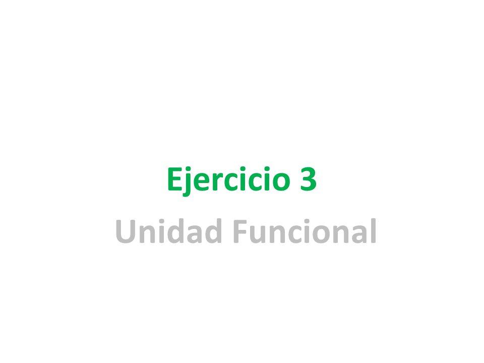 Ejercicio 3 Unidad Funcional