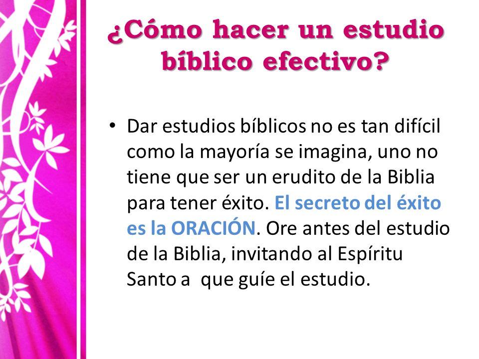 ¿Cómo hacer un estudio bíblico efectivo