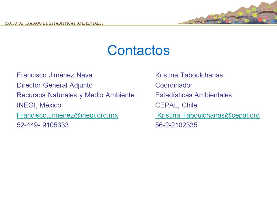 Contactos Francisco Jiménez Nava Kristina Taboulchanas