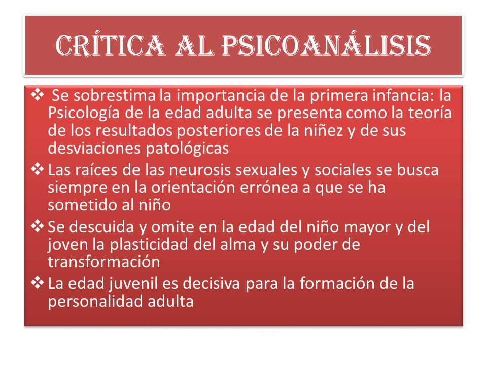 Crítica al psicoanálisis