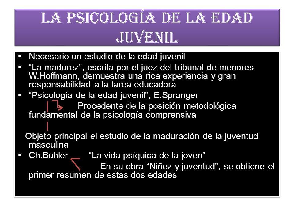 La psicología de la edad juvenil