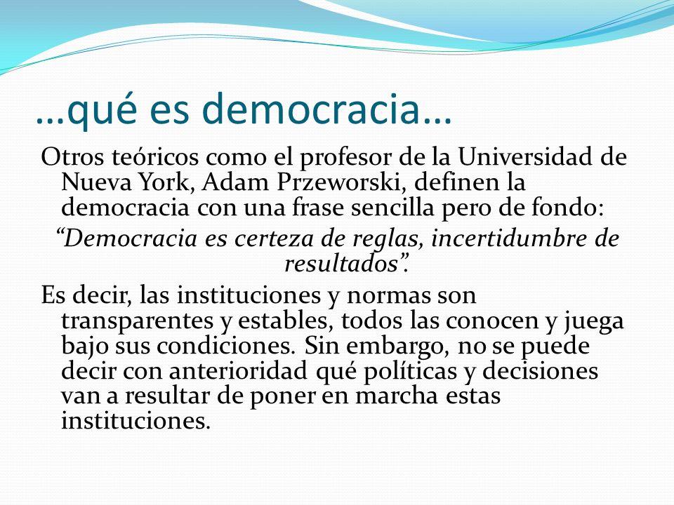 …qué es democracia…