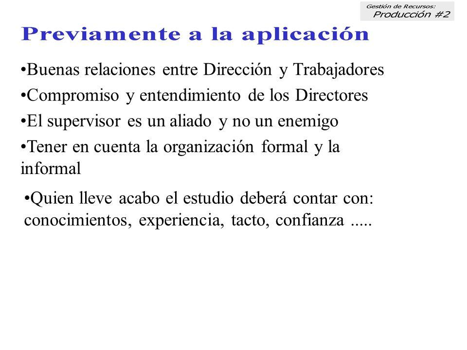 •Buenas relaciones entre Dirección y Trabajadores