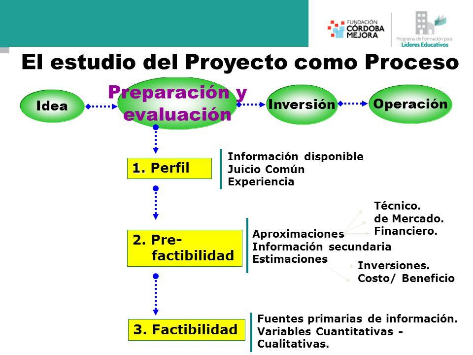 El estudio del Proyecto como Proceso