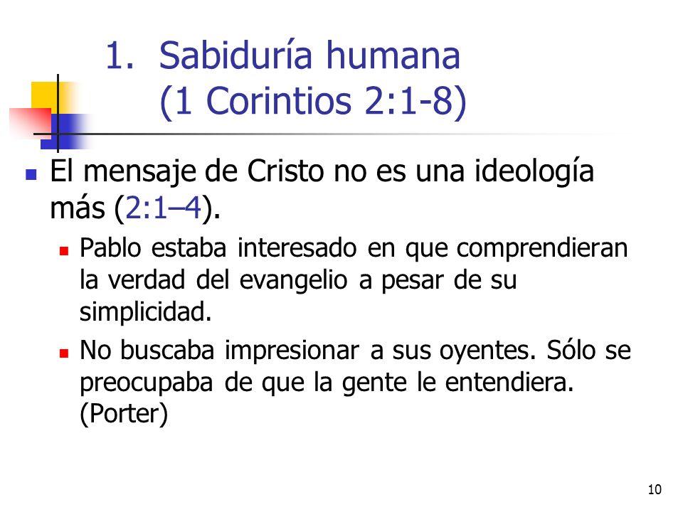 Sabiduría humana (1 Corintios 2:1-8)