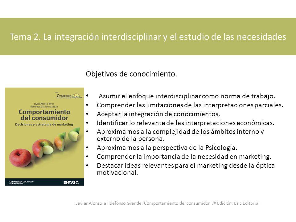Tema 2. La integración interdisciplinar y el estudio de las necesidades