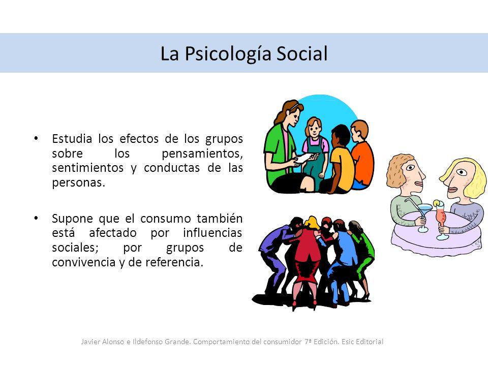 La Psicología Social Estudia los efectos de los grupos sobre los pensamientos, sentimientos y conductas de las personas.