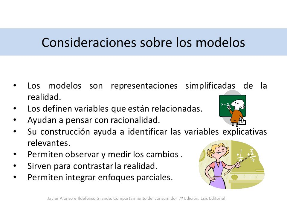 Consideraciones sobre los modelos