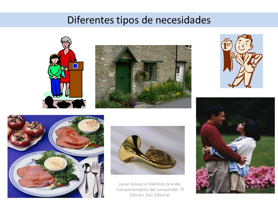 Diferentes tipos de necesidades