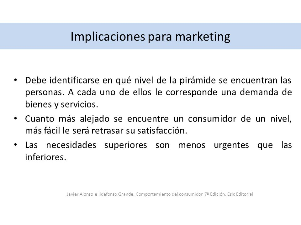 Implicaciones para marketing
