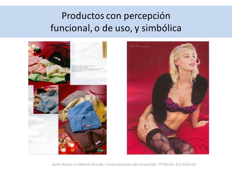Productos con percepción funcional, o de uso, y simbólica