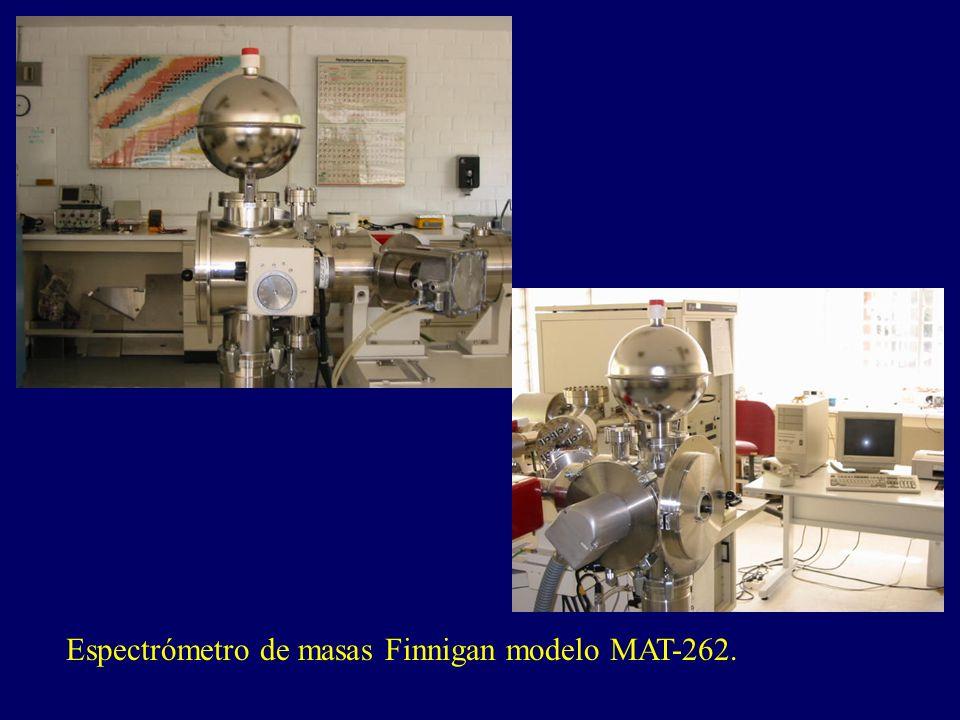 Espectrómetro de masas Finnigan modelo MAT-262.