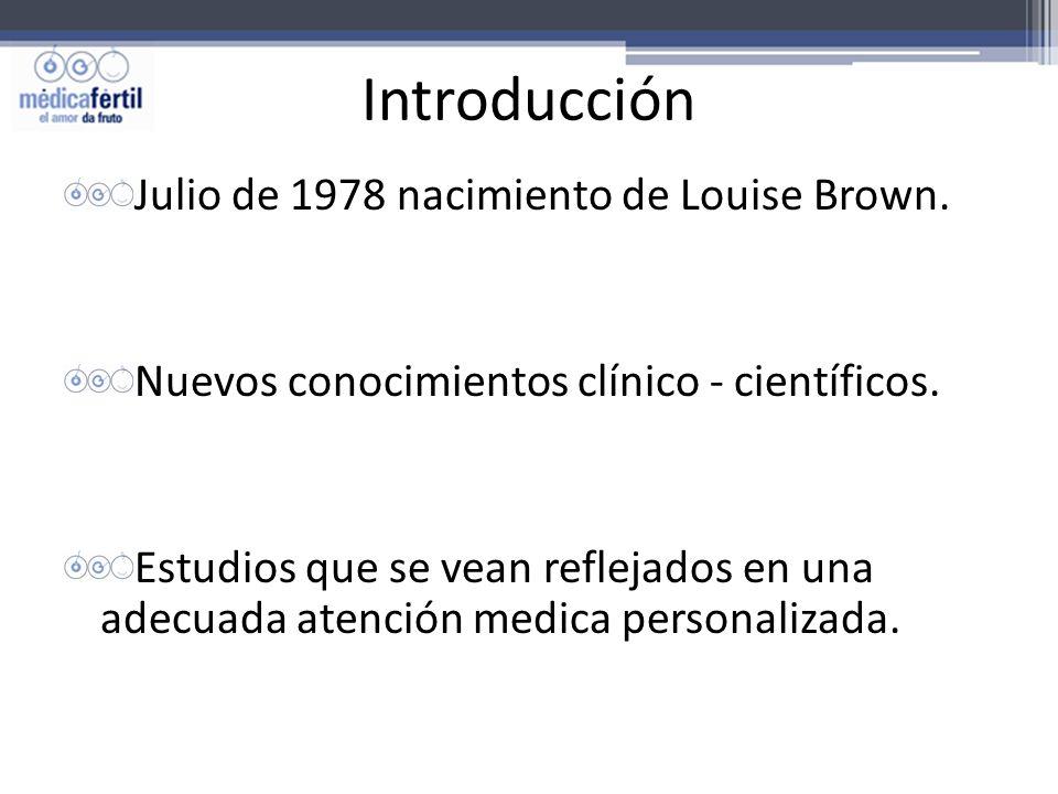 Introducción Julio de 1978 nacimiento de Louise Brown.