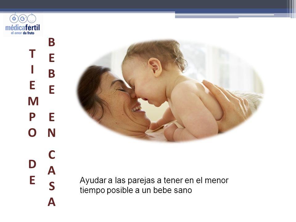 BEBE EN CASA TIEMPO DE Ayudar a las parejas a tener en el menor tiempo posible a un bebe sano