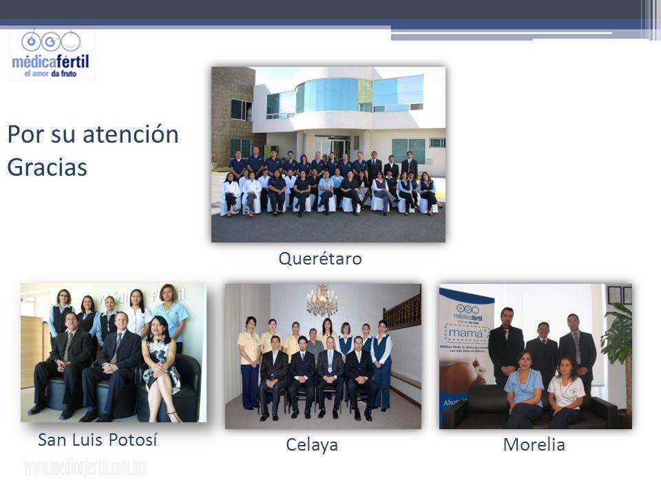 Por su atención Gracias www.medicafertil.com.mx Querétaro