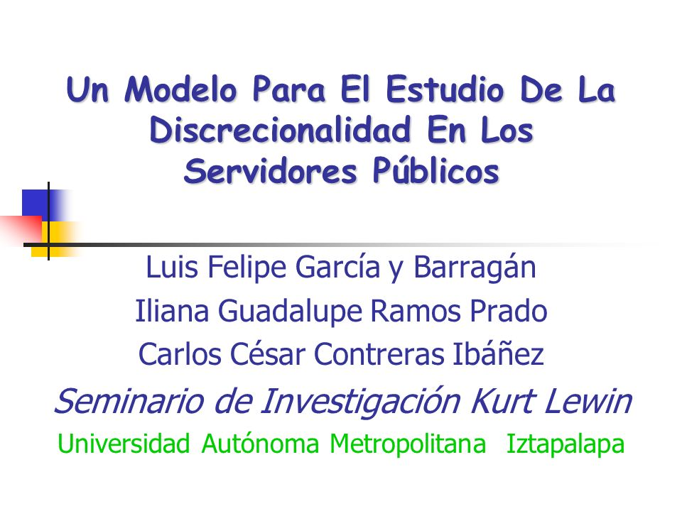 Seminario de Investigación Kurt Lewin