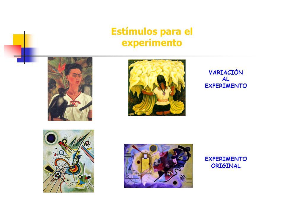 Estímulos para el experimento