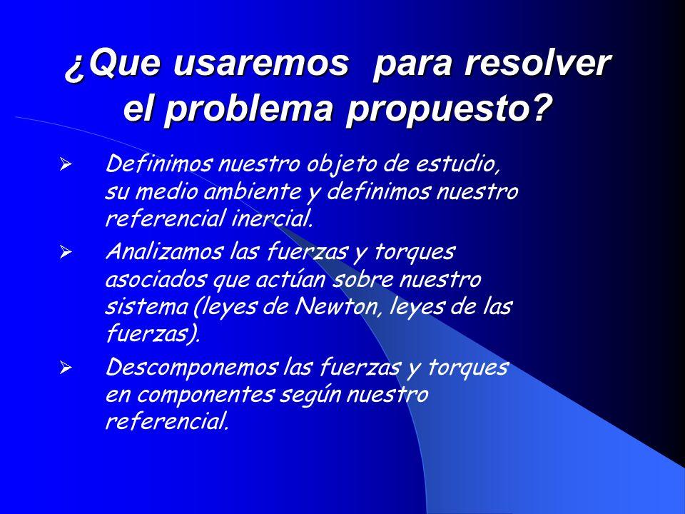 ¿Que usaremos para resolver el problema propuesto
