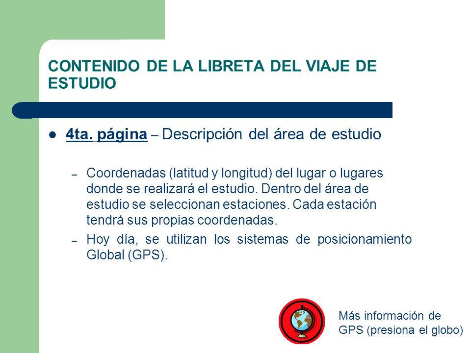 CONTENIDO DE LA LIBRETA DEL VIAJE DE ESTUDIO