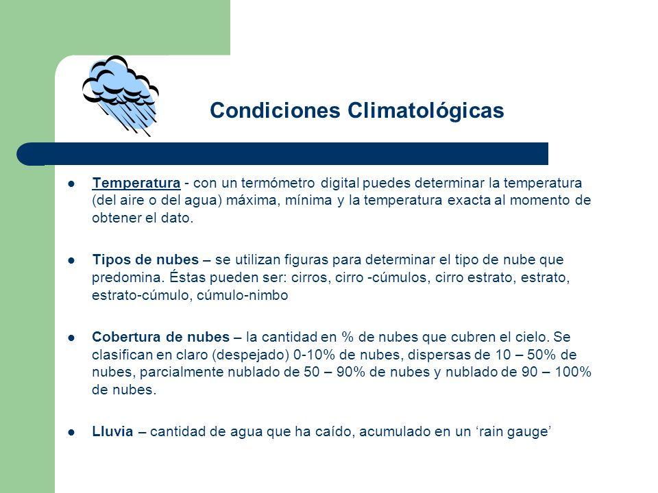 Condiciones Climatológicas