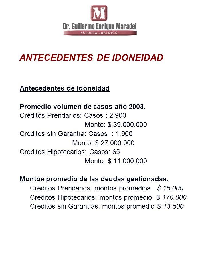 ANTECEDENTES DE IDONEIDAD