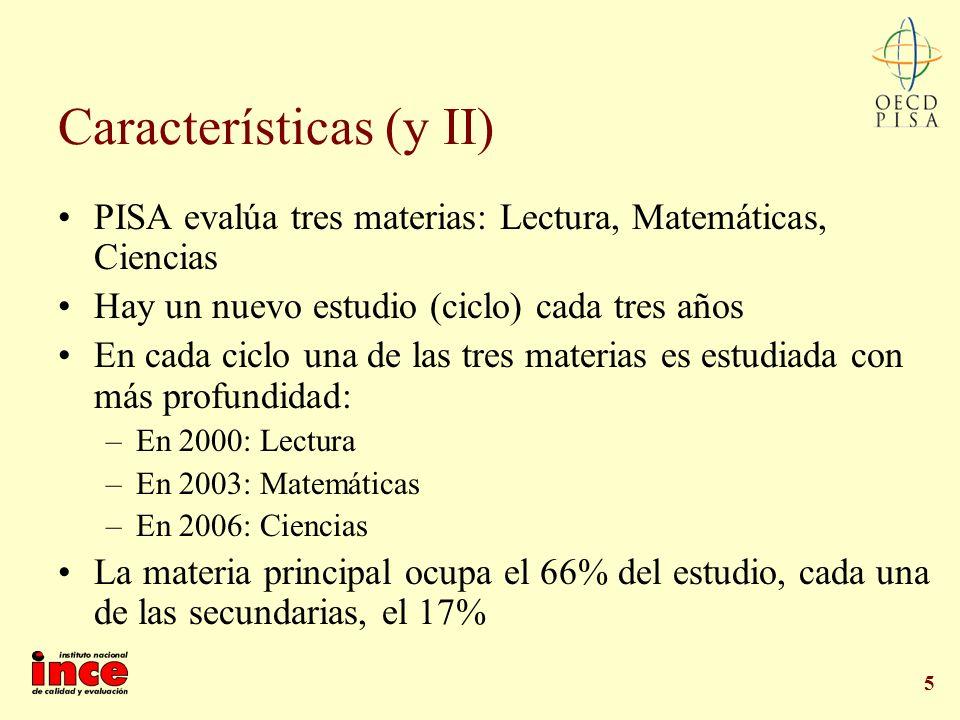 Características (y II)