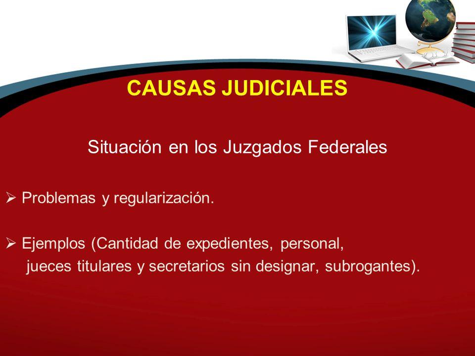 Situación en los Juzgados Federales
