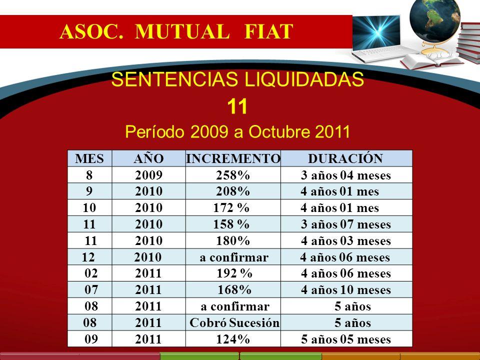 SENTENCIAS LIQUIDADAS