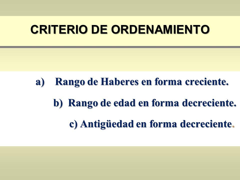 Criterio de Ordenamiento