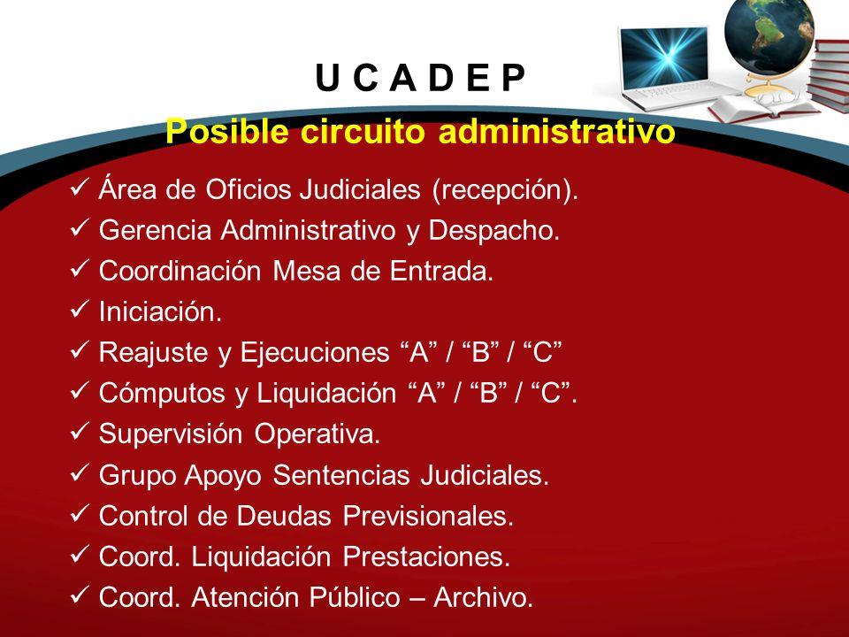 Posible circuito administrativo